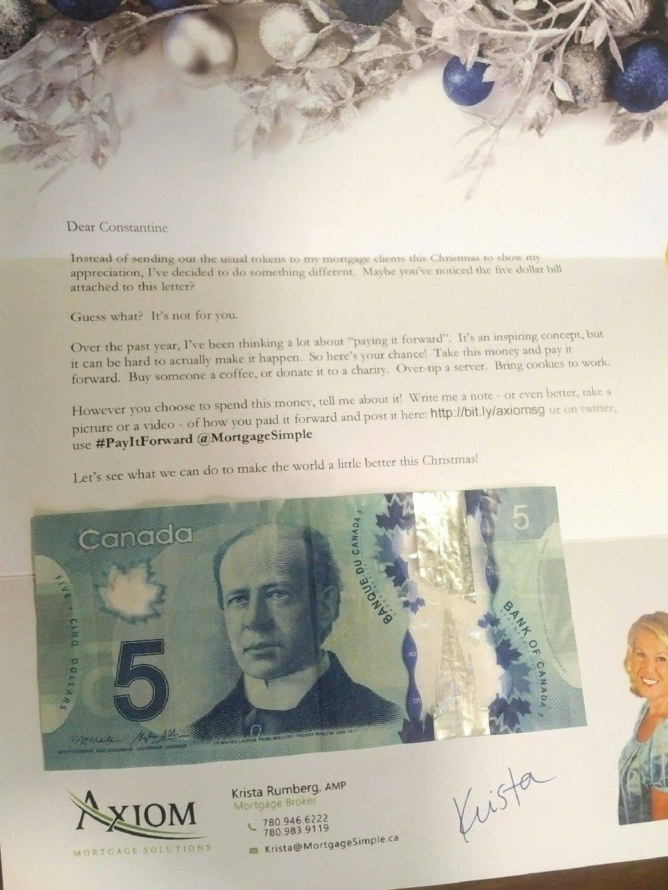 payitforward letter