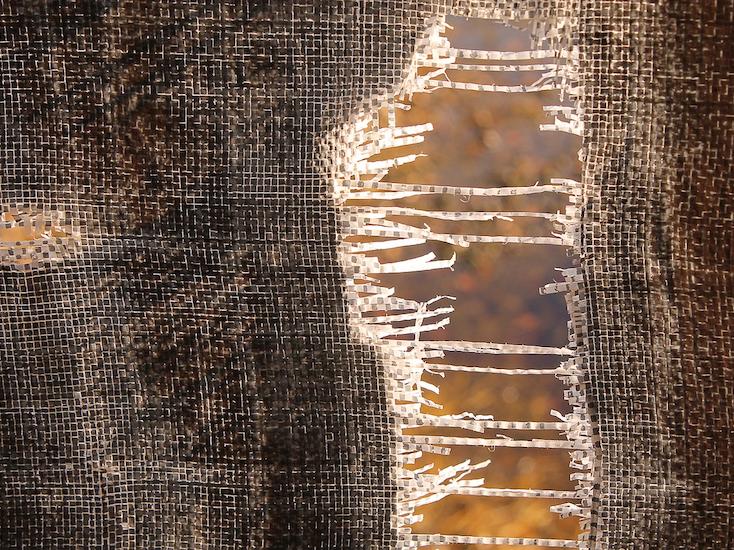 Tearing fabric