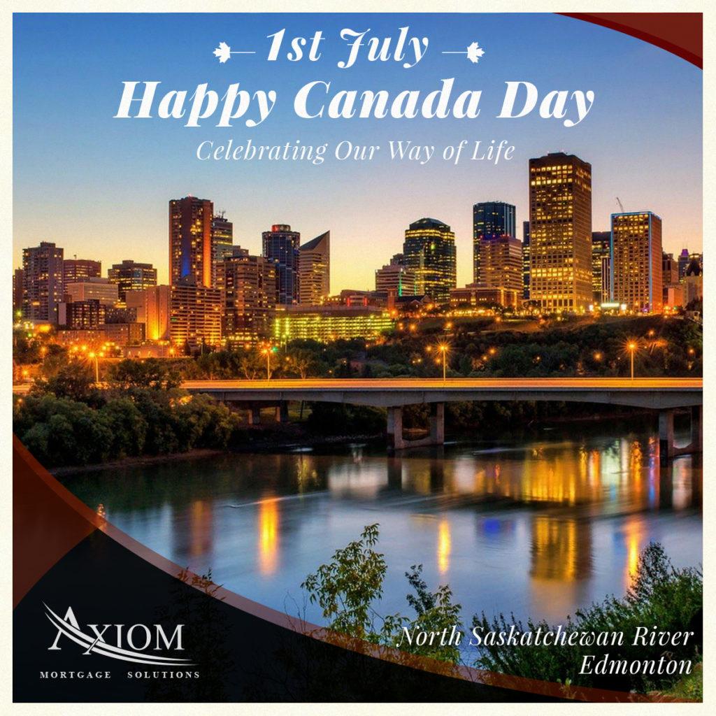Happy Canada Day - North Saskatchewan River